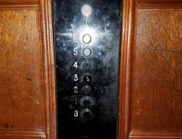 Old Elevator Panel Inside cab at Calfornia St.