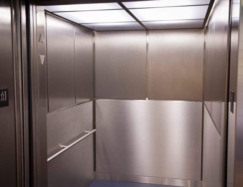 The sleek new elevators at UC Berkeley