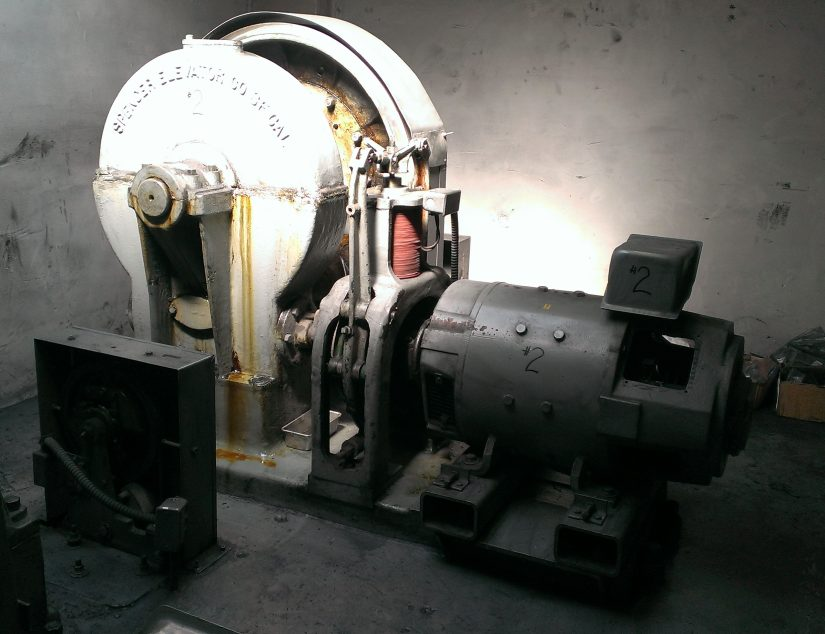 Old DC Powered Motor Before Modernization at Jones St.